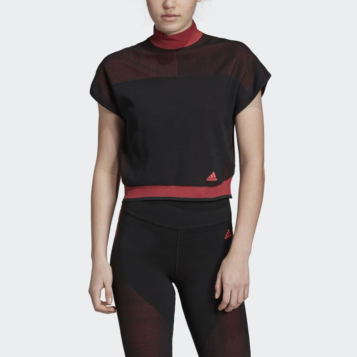 Primeknit LTE Cropped Tee Black Womens | Crop tee, Black
