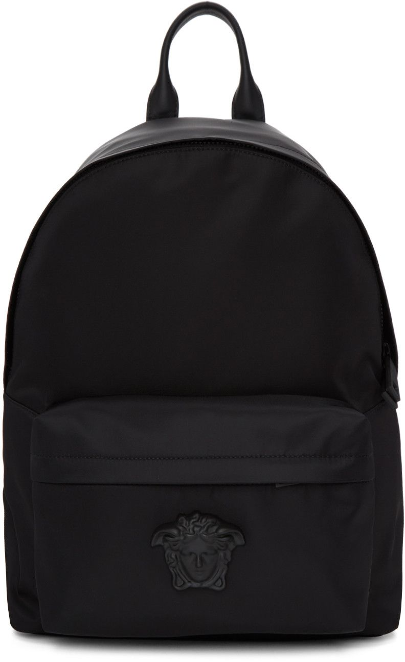 0ea999233ba5 VERSACE Black Nylon Medusa Backpack.  versace  bags  leather  lining  nylon   backpacks
