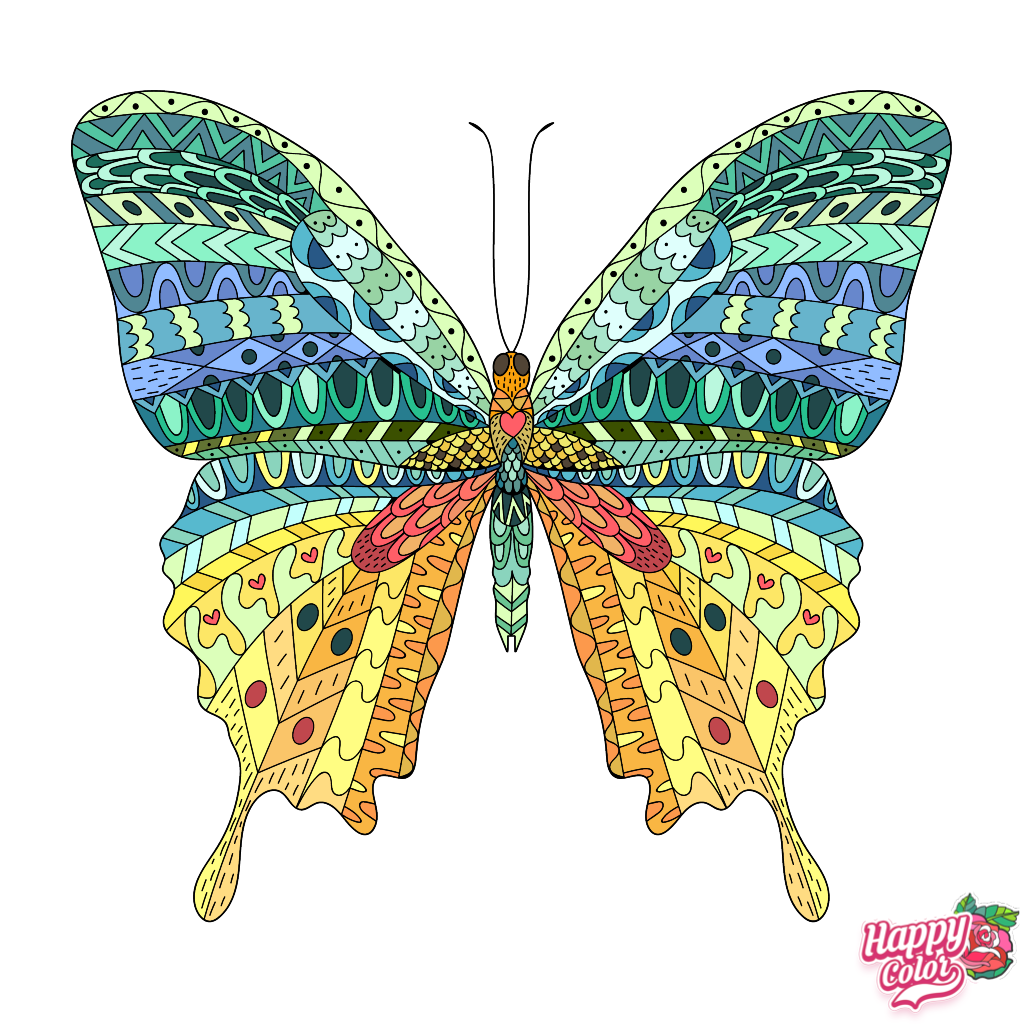 Pin By Dalia Tabul On Butterflies Coloring Book App Colorful Art Happy Colors