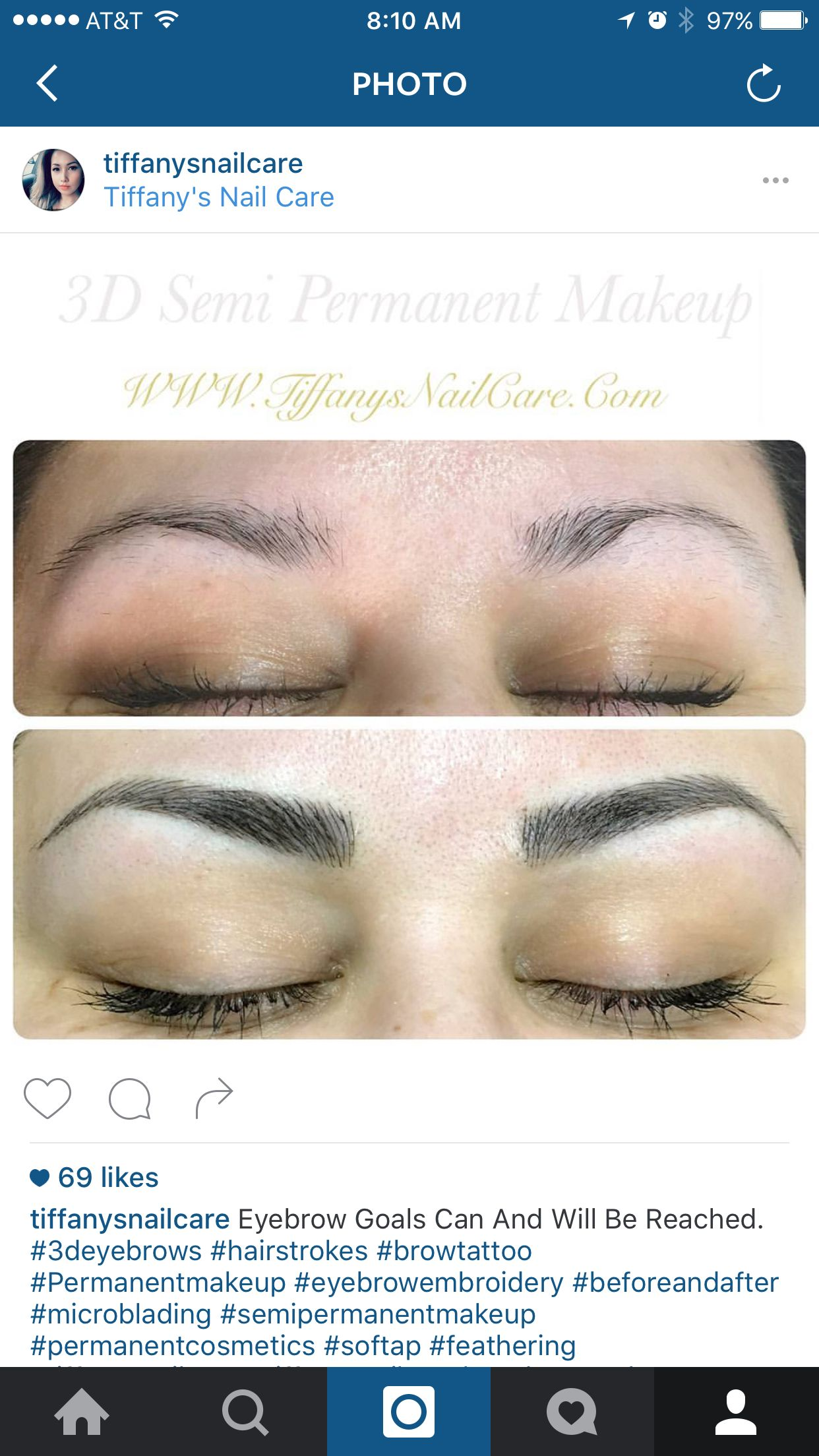3d Hair Stroke Permanent Makeup Eyebrows : stroke, permanent, makeup, eyebrows, Tiffanys, Nails, Cosmetic, Tattoo,, Permanent, Makeup,, Makeup