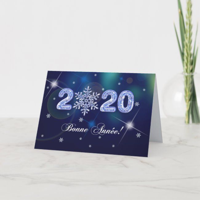 Bonne Année 2020. New Year's Card in French   Zazzle.com