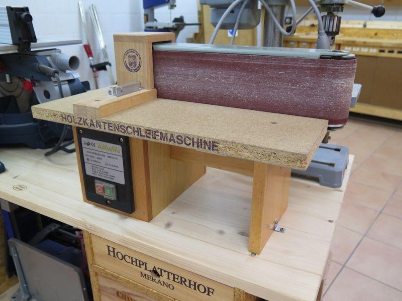 kantenschleifmaschine eigenbau hergestellt aus einer gebrauchten teller und. Black Bedroom Furniture Sets. Home Design Ideas