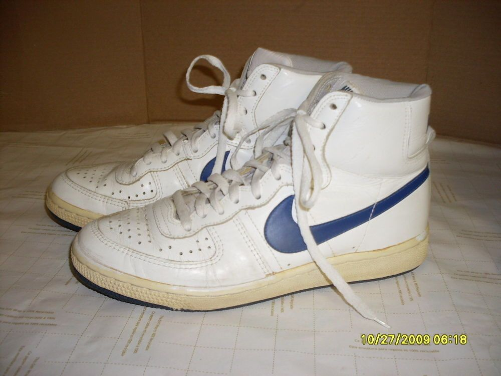 vtg 80's old school nike high top sneakers tennis shoes