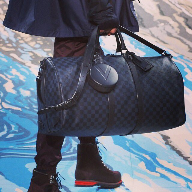 From the runway to you: the #LouisVuitton Damier Cobalt Collection seen at the Men's #FW14 Fashion Show is now available on louisvuitton.com
