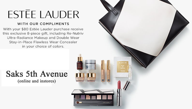 Get this exclusive beautiful 8-pc Estee Lauder gift from Saks ...