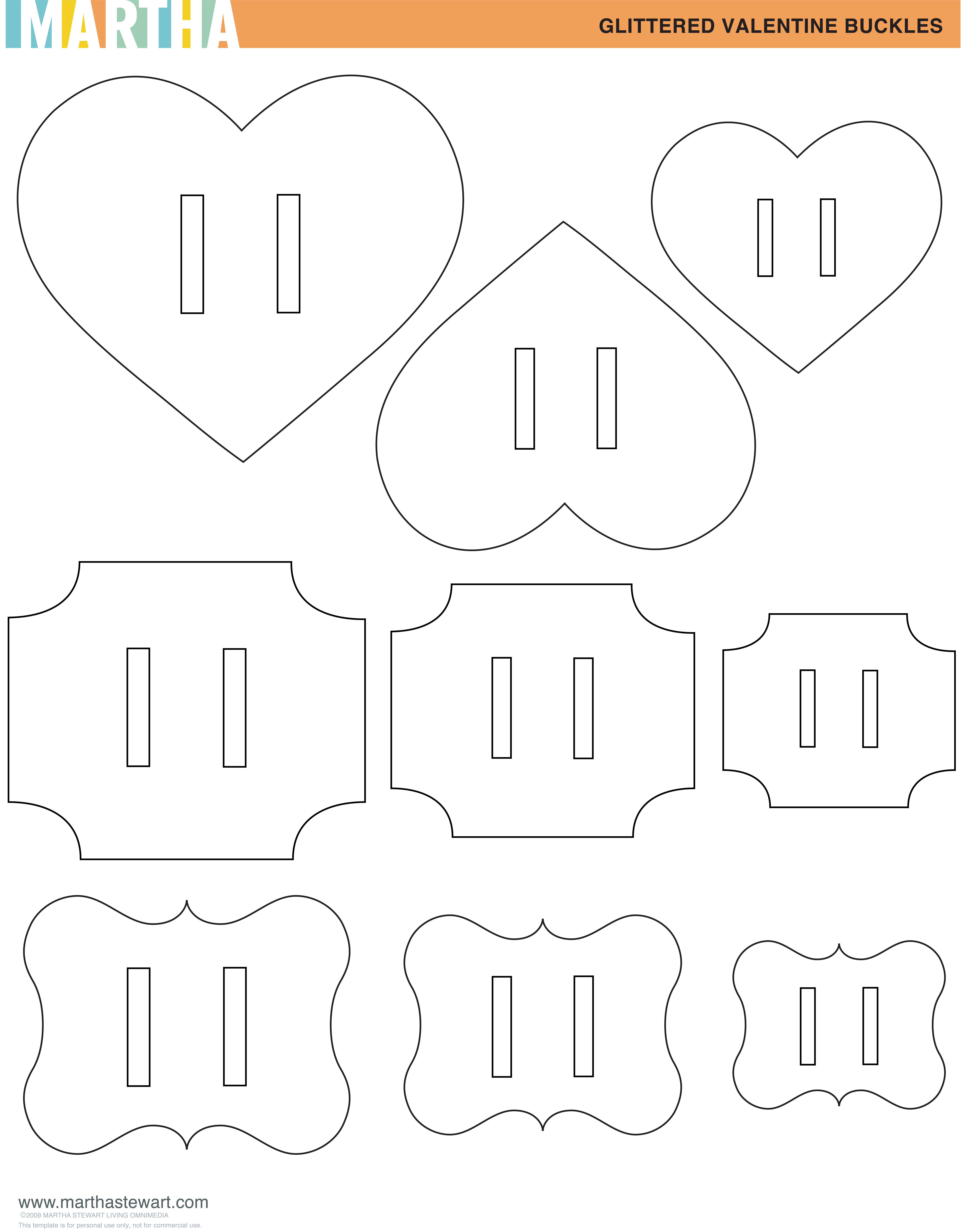 buckle templates pdf here images marthastew project video here