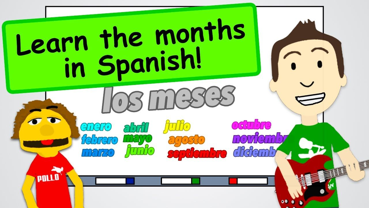 Months of the Year in Spanish + a Song!