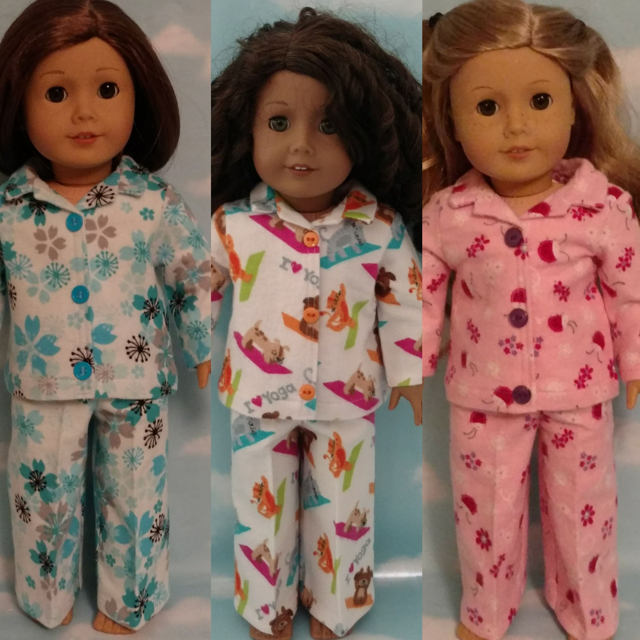 18 inch doll clothes, pajamas fits 18 American Girl Dolls 400bcd #18inchdollsandclothes