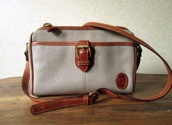 4d41800d3a Crossbody Bag leather saddlebag preppy purse long strap taupe tan ...