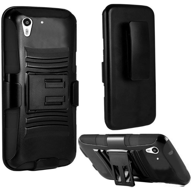 Insten Dual Layer Hybrid PC/ Soft Silicone Holster Phone Case Cover For HTC Desire Eye #2030119