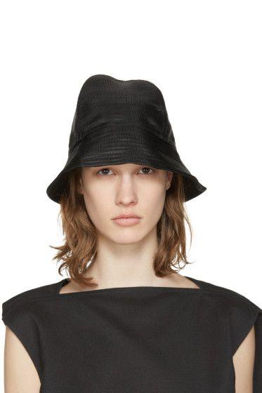 15f92d55c9f Rick Owens - SSENSE Exclusive Black Bucket Hat