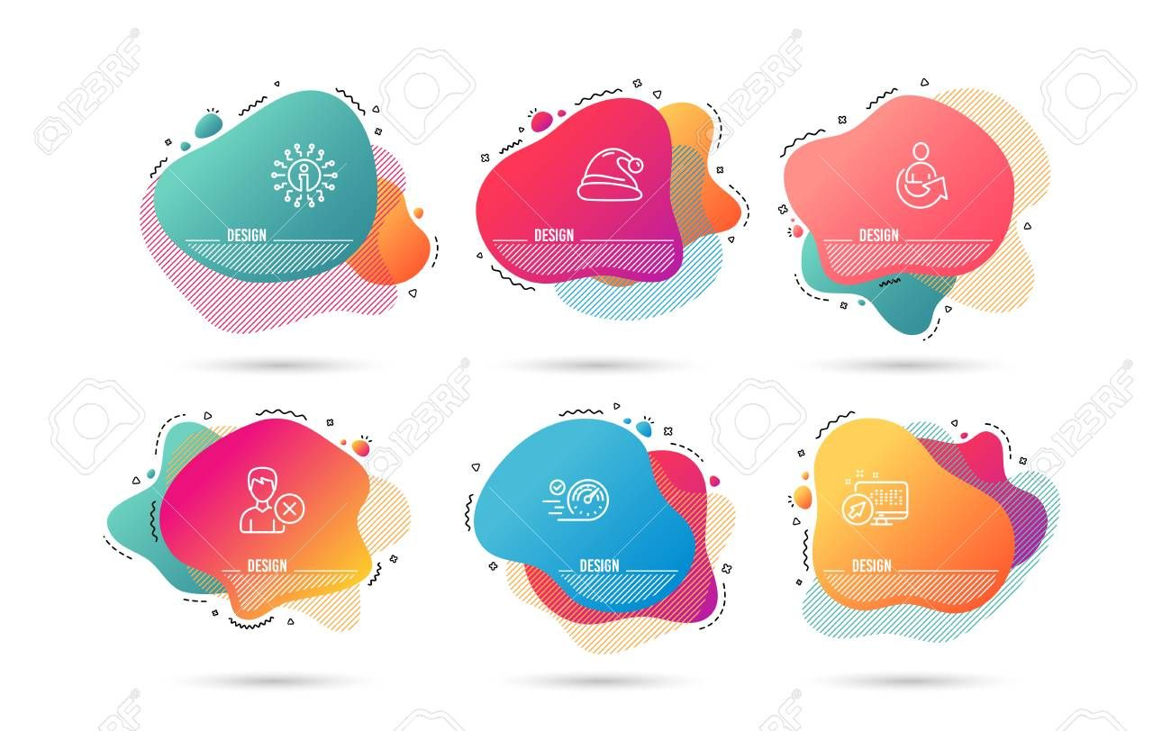 Timeline Set Of Speedometer Remove Account And Santa Hat Icons Share Sign Time Concept Delete User Christmas Refe Money Icons Abstract Shapes Party Flyer
