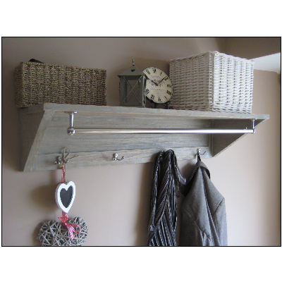 New Hallway Shelf with Hooks