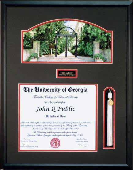 uga diploma frame with tassel