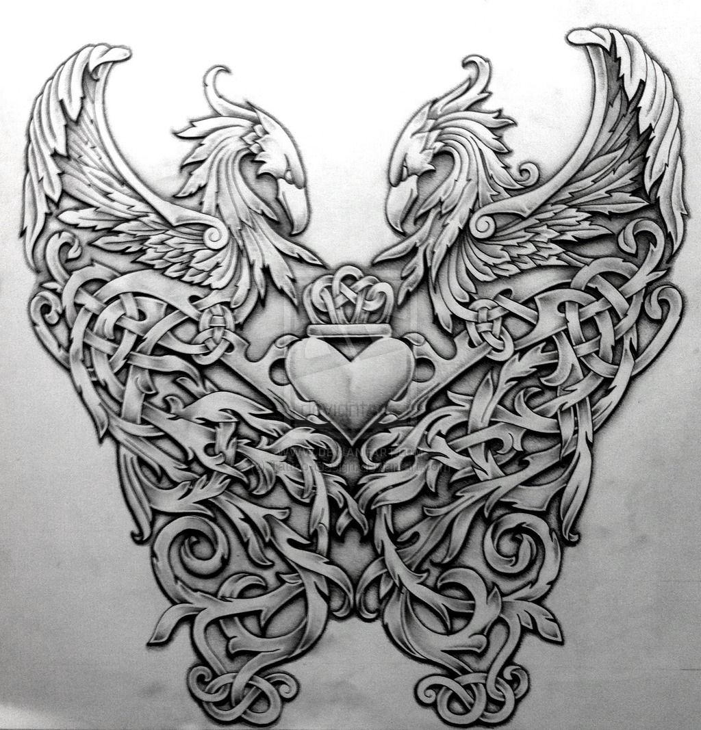 Celtic Phoenix By Tattoo-Design