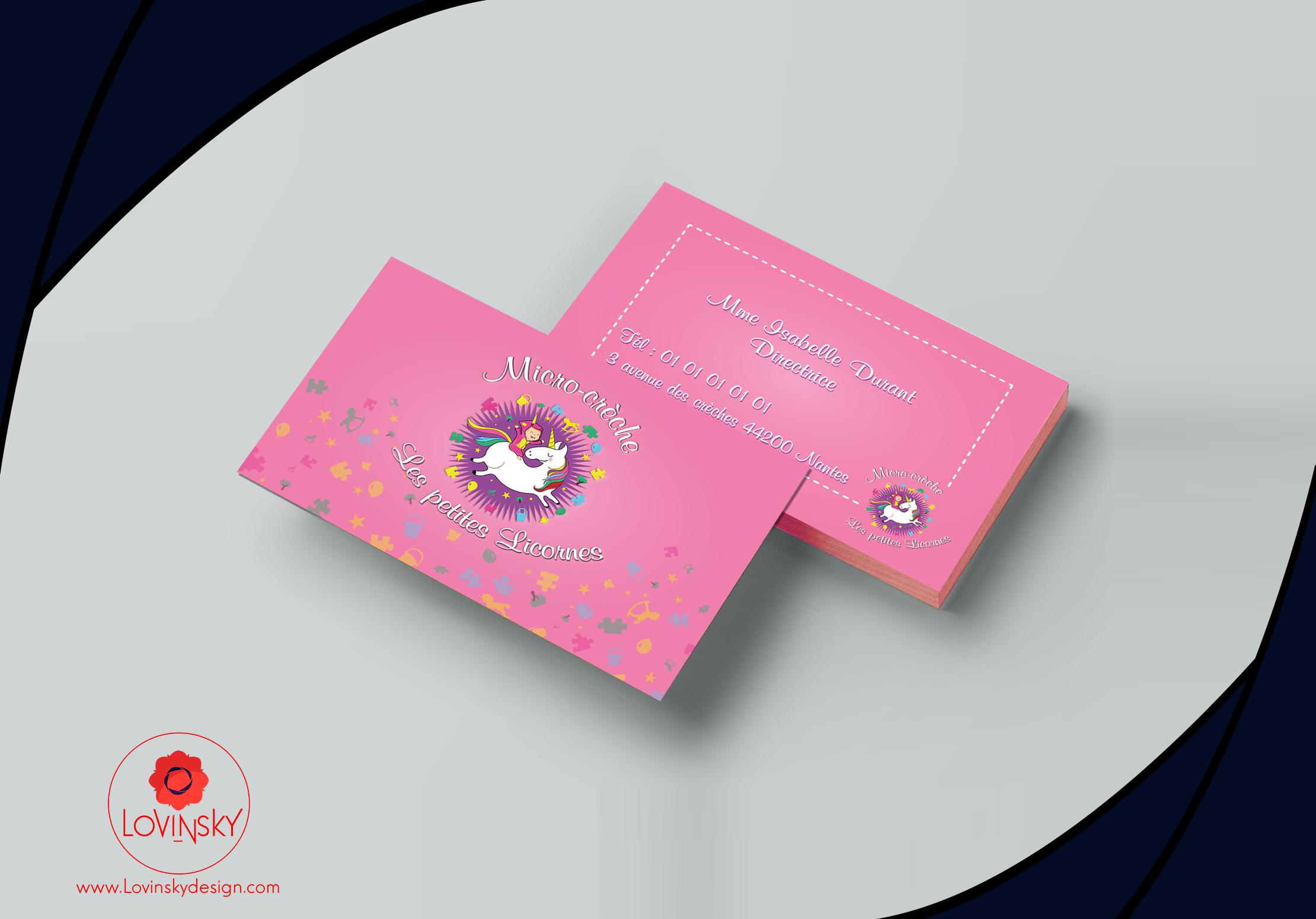 Carte De Visite Creche Pour Voir Plus Designs Lovinsky Rendez Vous Sur Lovinskydesign Facebook