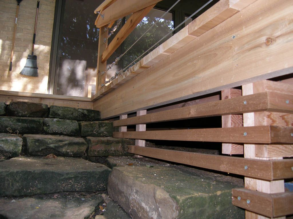 26 Most Stunning Deck Skirting Ideas To Try At Home Deck Skirting Modern Deck Wood Deck Steps