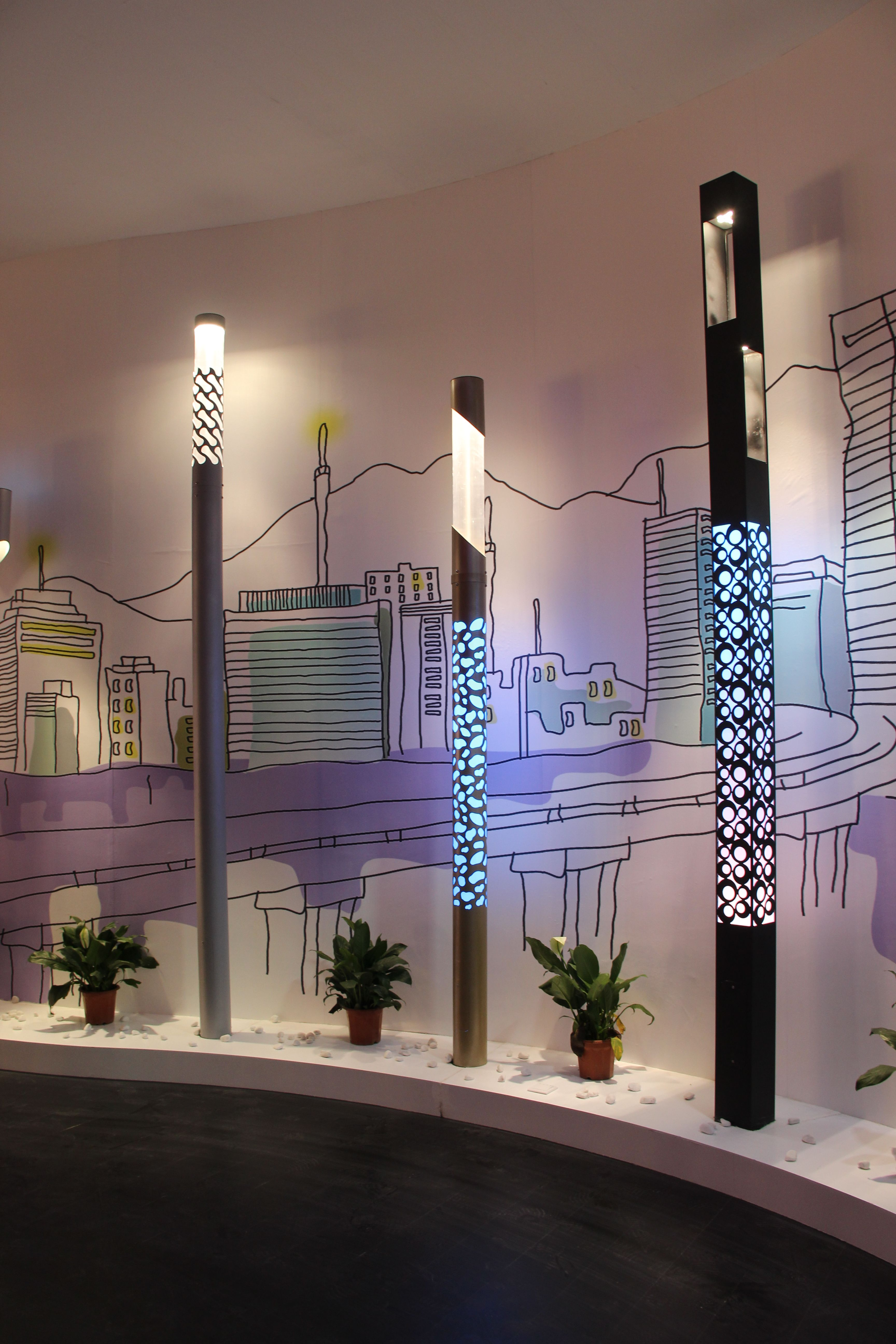 Pretty pillar LED lights