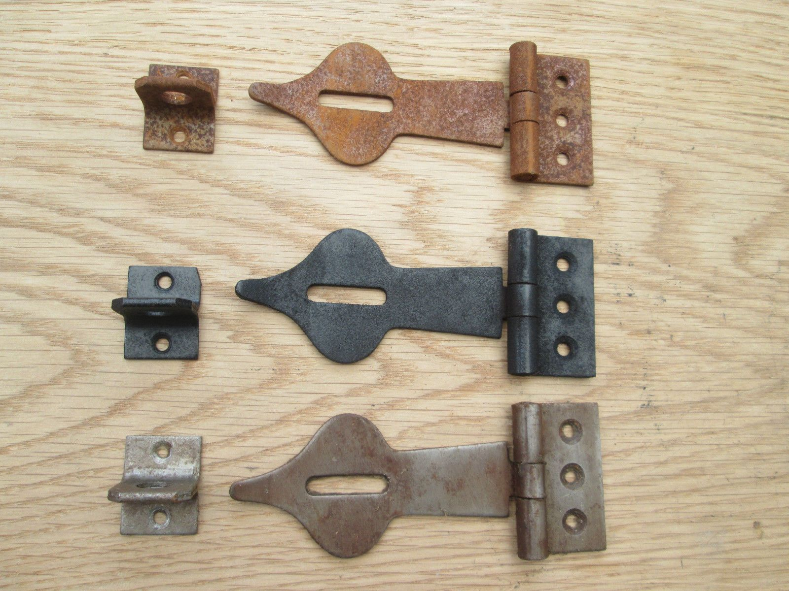 "Vintage Forged Iron Cabinet Latch Copper Metal Hammered Design 3//8"" Offset"
