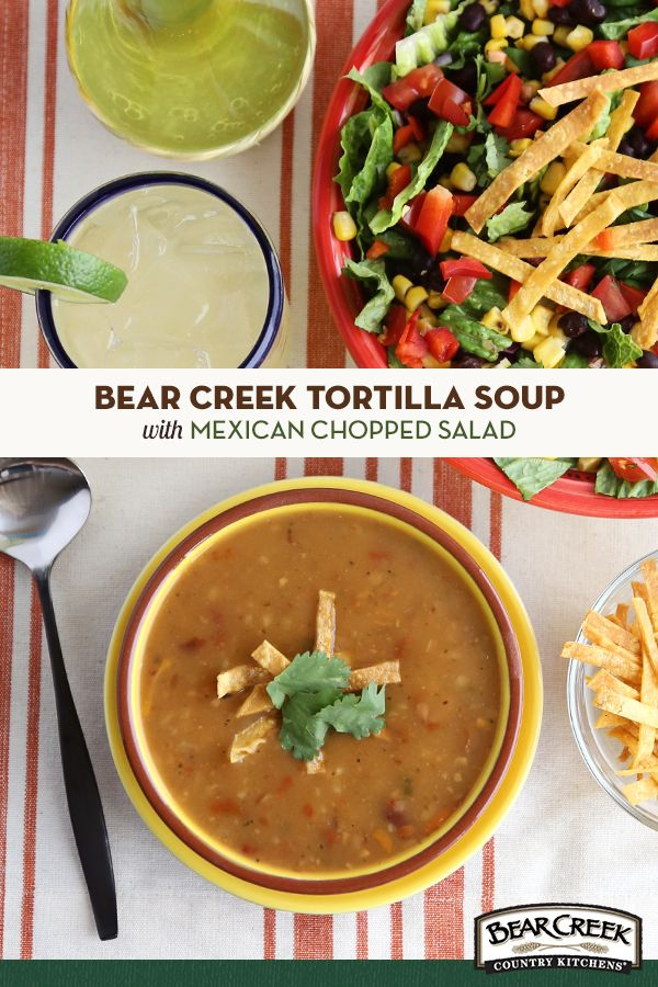 In the fifteen minutes your Bear Creek Tortilla Soup is