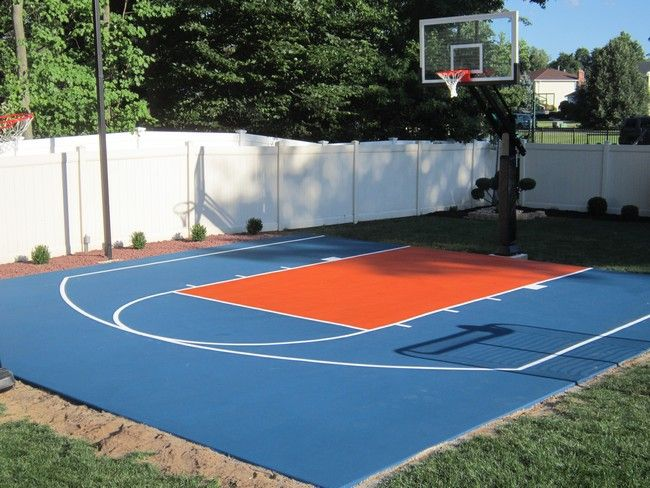 Creating The Perfect Outdoor Environment For Your Kids Decor Around The World Basketball Court Backyard Backyard Basketball Diy Basketball Court