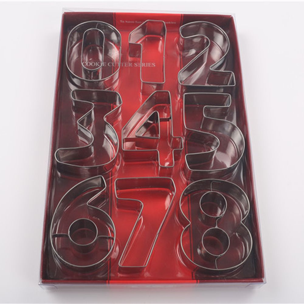 Pcsset number digit cake cookie cutter baking mold stainless steel