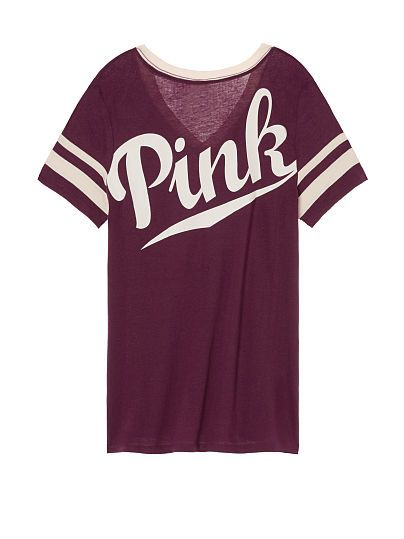 Perfect V-Neck Tee PINK