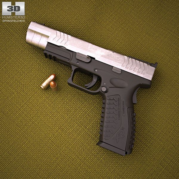 Springfield Armory XDM Competition 3d model from humster3d.com. Price: $50
