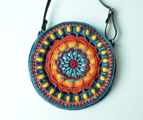 Crocheted Bag PATTERN Round purse with by LillaBjornCrochet ...