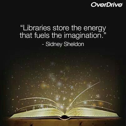 Libraries store the energy that fuels the imagination