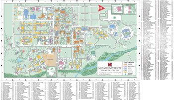 Oxford Campus Map   Miami University   click to PDF download