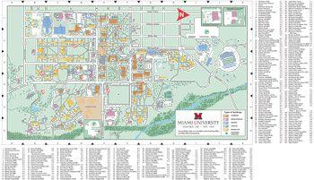 Oxford Campus Map  Miami University  click to PDF download