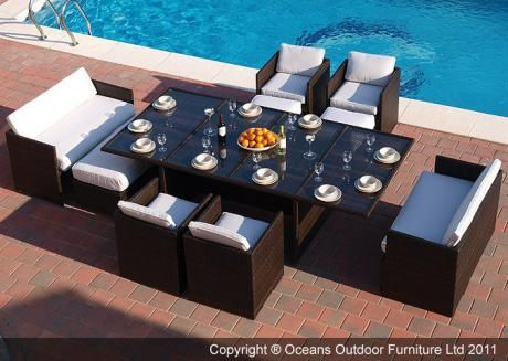 super deluxe cube dining set oceans outdoor furniture ltd