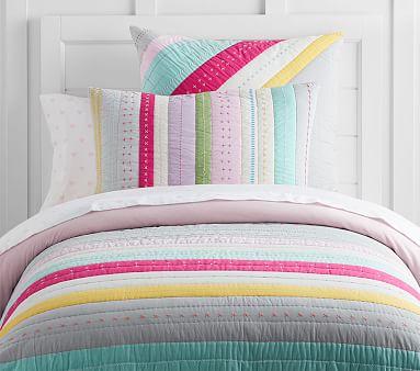 Bright Stripe Quilt Twin Multi