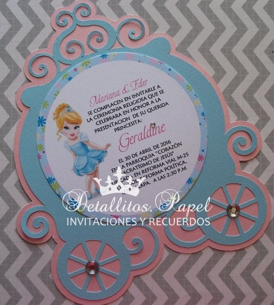 Cinderella Invitation Cinderella Birthday Invitation
