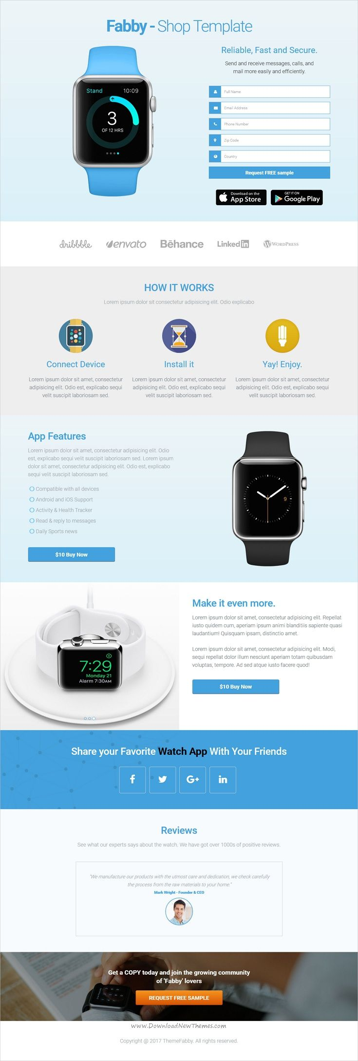 Fabby - One Product Shop Template | Template and Mobile responsive