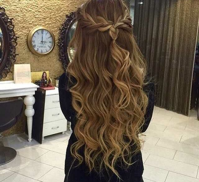 Braided Half Updo Hair Styles Long Hair Styles Prom Hairstyles For Long Hair