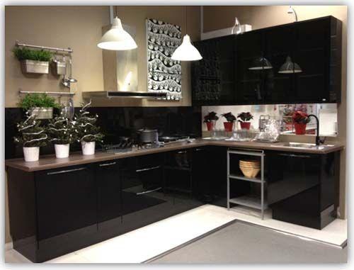 Black L Shaped Kitchen Cabinet Isd Kitchencabinet Com