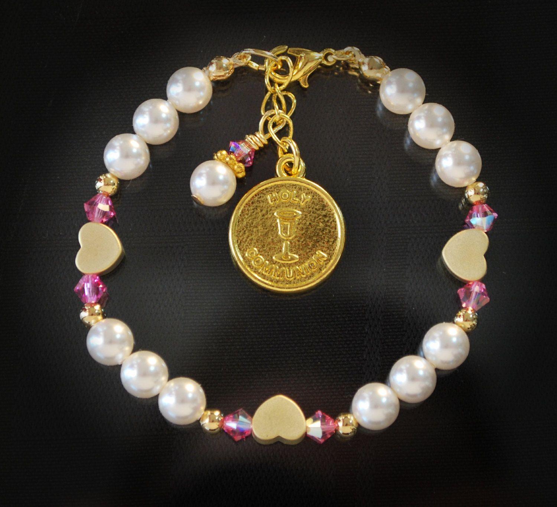 1st communion gift communion jewelry gifts bracelet gold