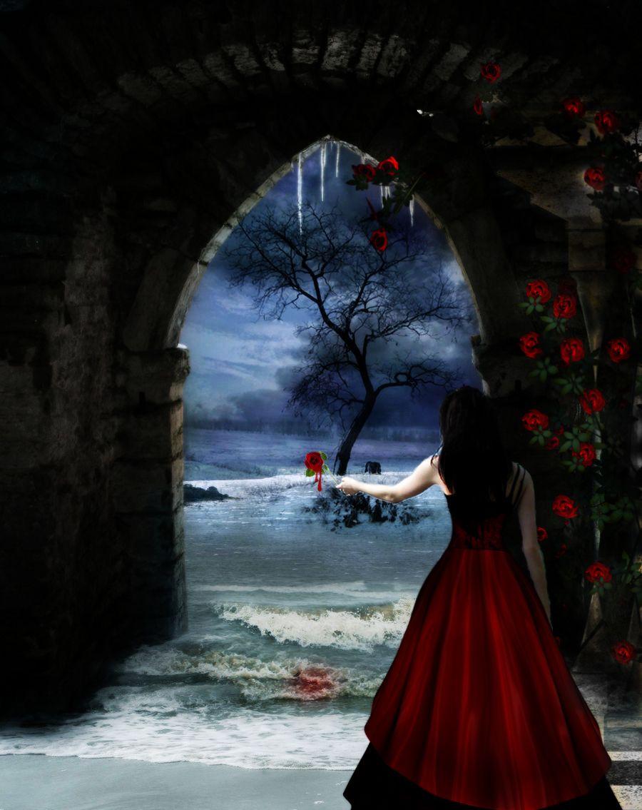 bledding rosess | Bleeding, a rose. by ~HunterOfSolitude on deviantART