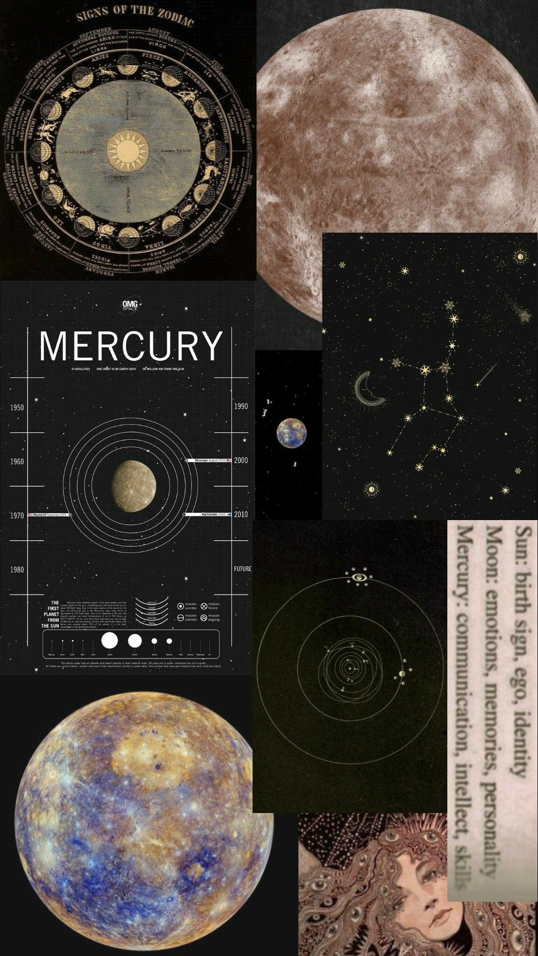 Mercury wallpaper (planet) 44+ Vintage Aesthetic Wallpaper 2020