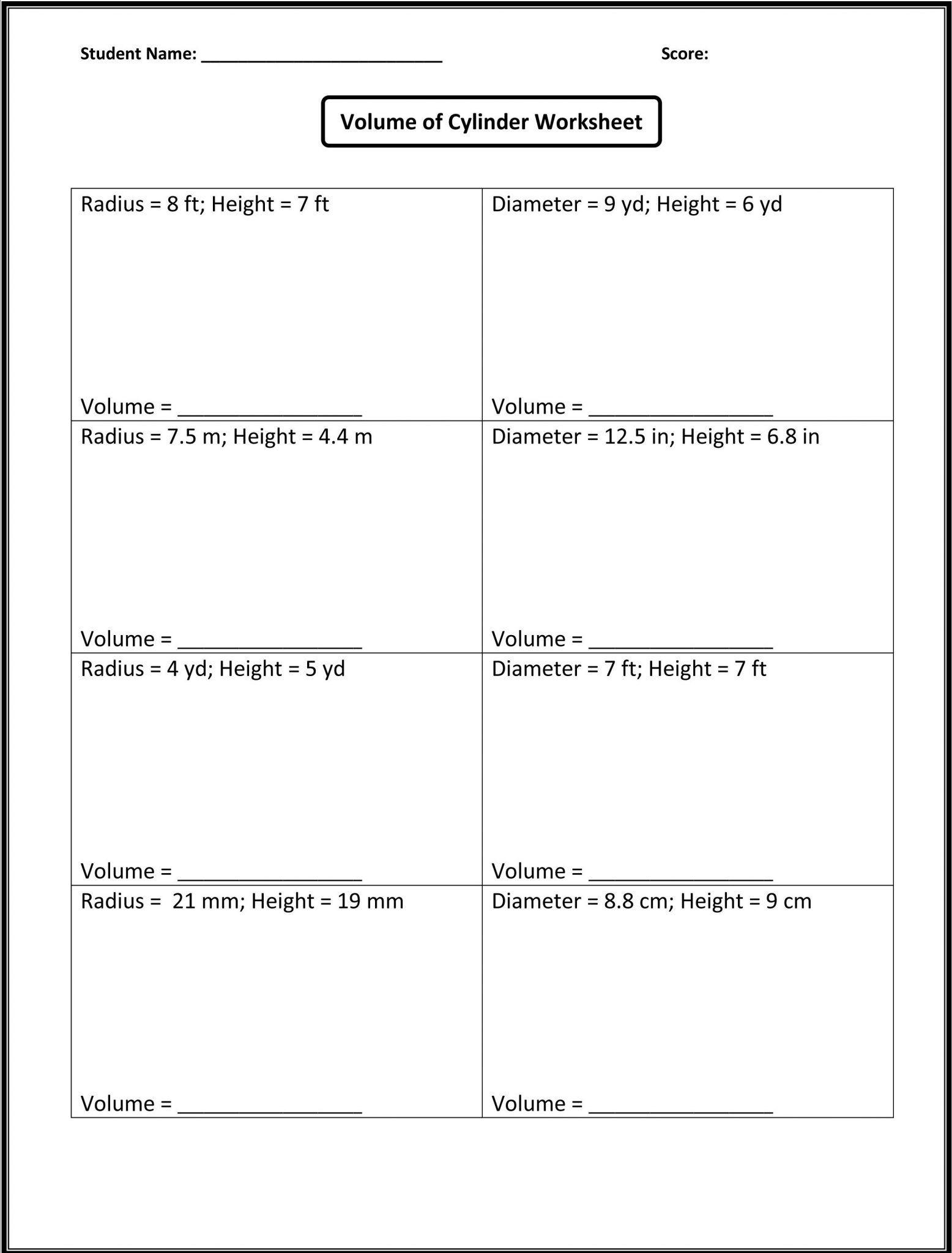 8th Grade Math Worksheets Printable 8th grade math