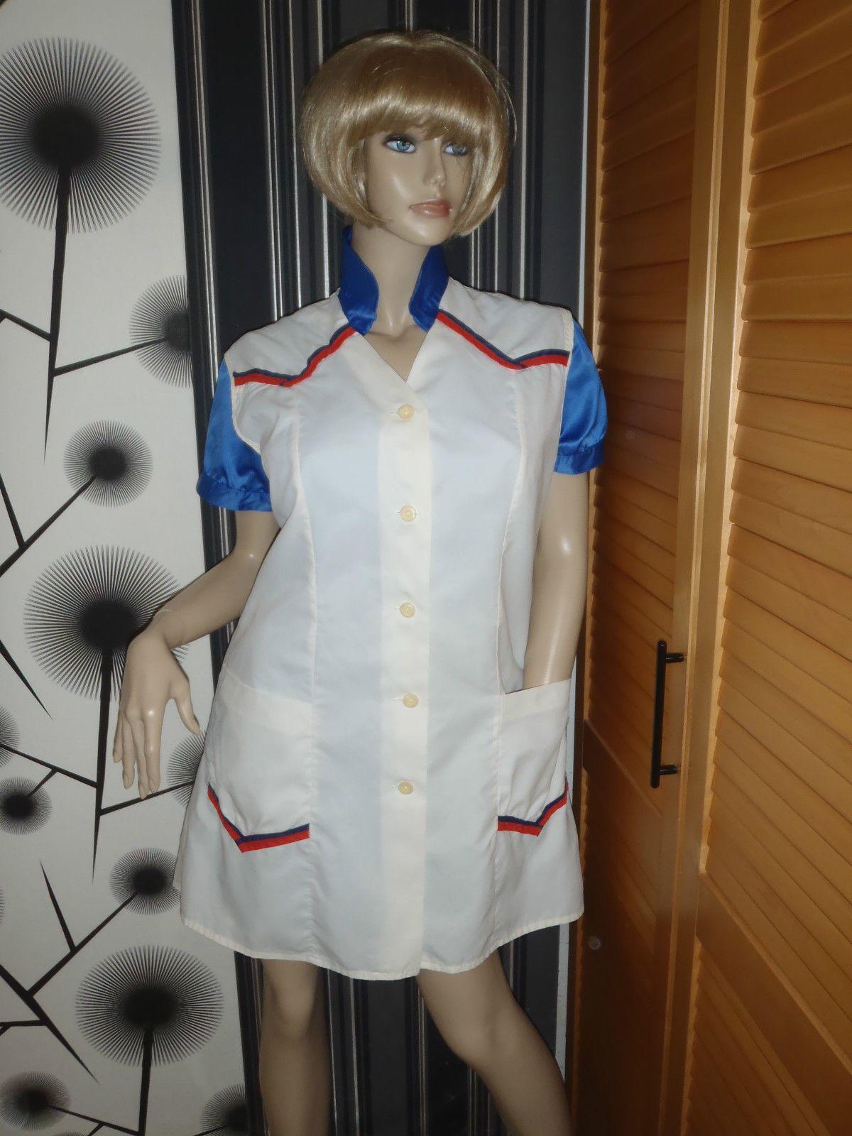 White apron health - Nylon Kittel Sch Rze Xxl Nylon Glanz Blouse Fris R Silk Shiny Apron Overall