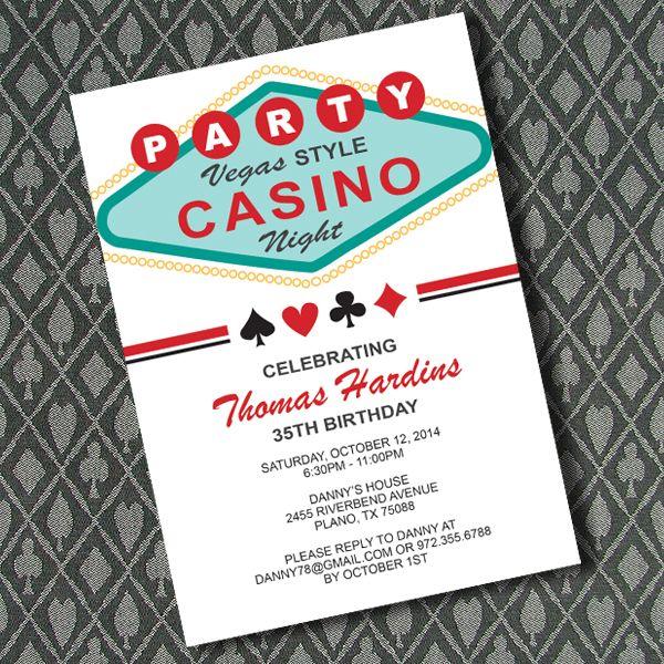 Vegas Casino Night Invitation Template LAS VEGAS THEME PARTY - Party invitation template: casino theme party invitations template