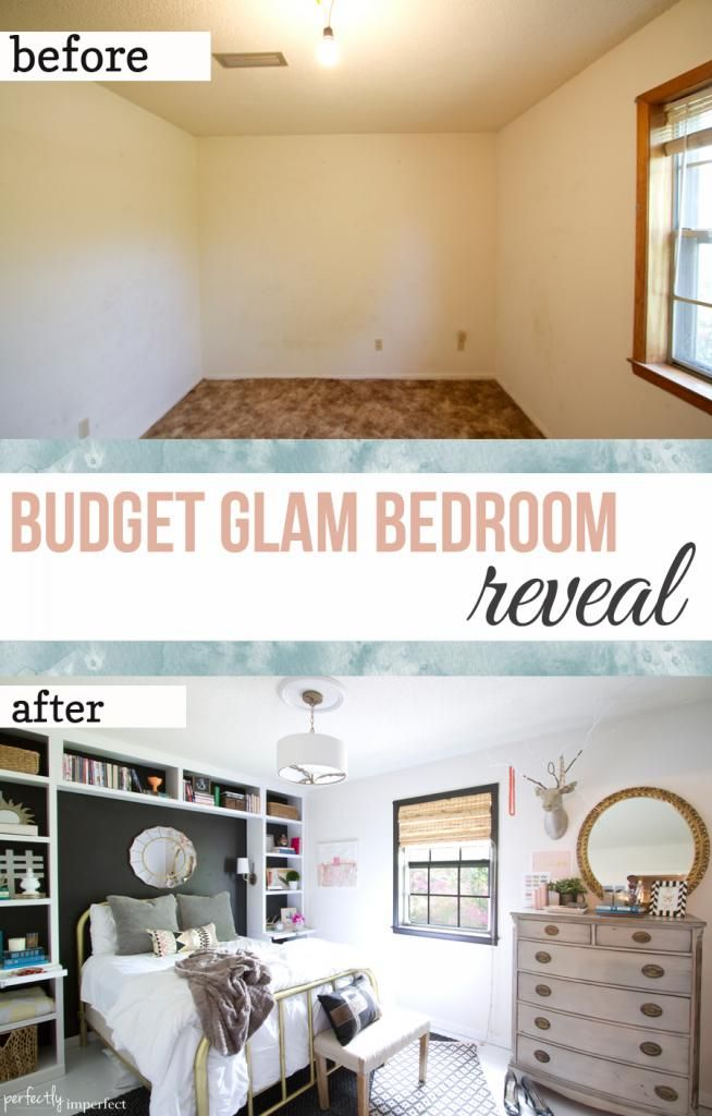 Glamorous Bedroom Makeover On A Budget Perfectly Imperfect Shaunna West Using Beautiful Color Palette From Sherwin Williams