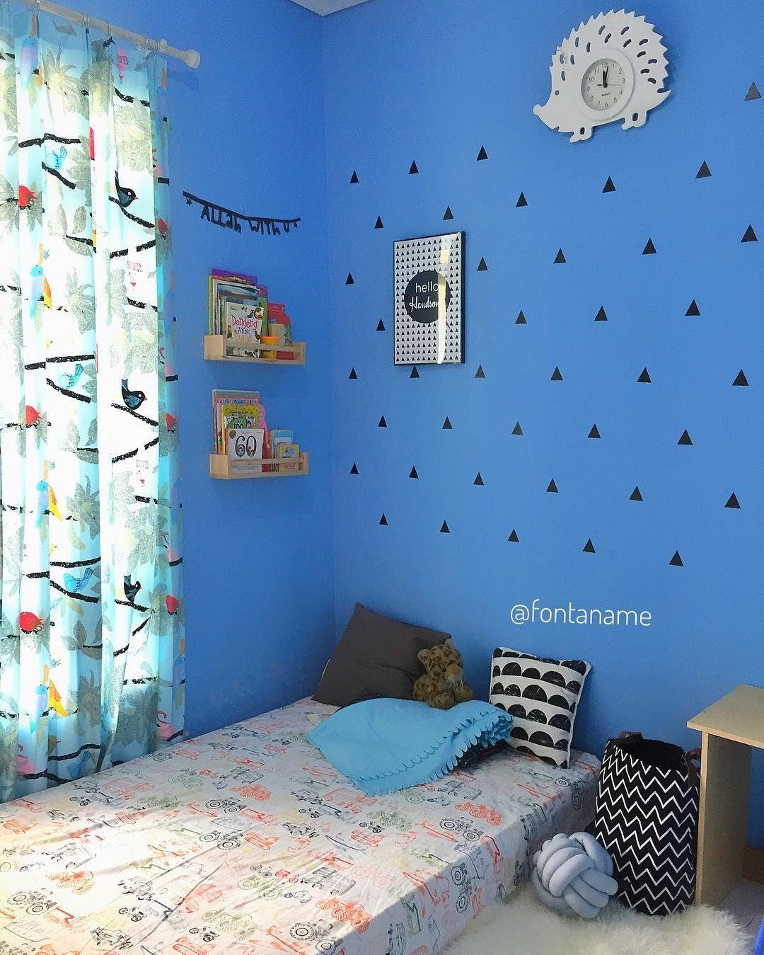 Hiasan Dinding Kamar Warna Biru