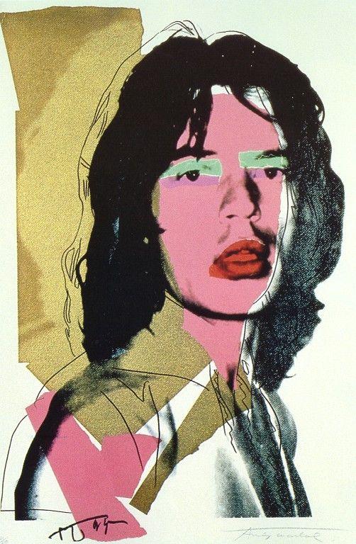QIUFANGGUO Andy Warhol Mick Jagger Stillleben Abstrakte Malerei Zeichnung Kunst Spray Ungerahmte Leinwand Realistische K/üche 50X70Cm Ohne Rahmen