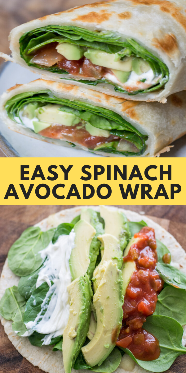 Photo of Easy Spinach Avocado Wrap