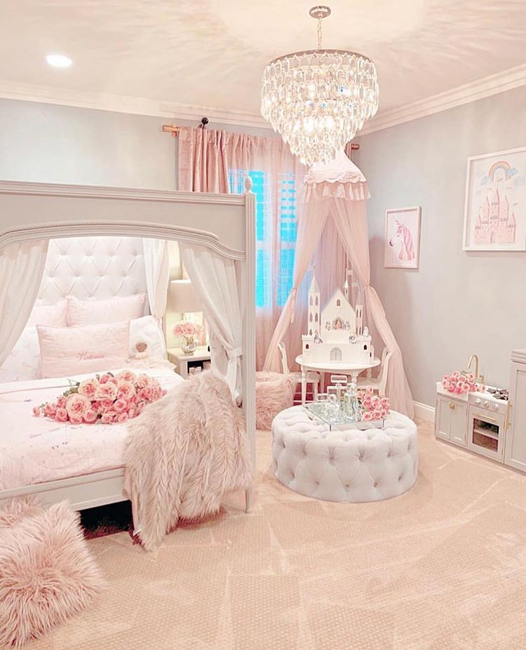 Fit For A Princess The Sweetest Little Girls Room By Rh Interior Designs What Do You Guys Thin Pink Bedroom Girly Girl Decor
