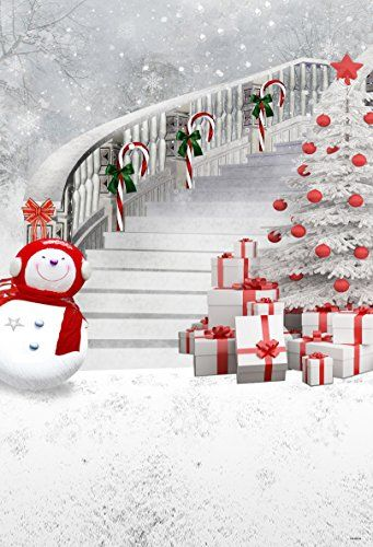 5x7ft White Christmas Photography Backdrop Red Scarf Snow Https Www Amaz Christmas Tree Photography Christmas Backdrops Photo Backdrop Christmas